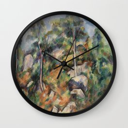 Rocks and Trees (Rochers et arbres) (ca1904) by Paul Cezanne Wall Clock