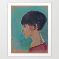 Short Hair I Art Print