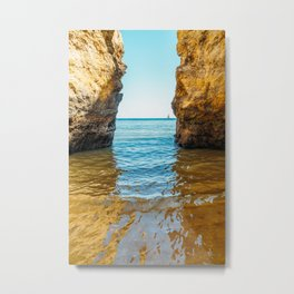 Rocks And Ocean Landscape In Lagos, Wall Art Print, Landscape Art, Poster Decor, Large Photo Metal Print