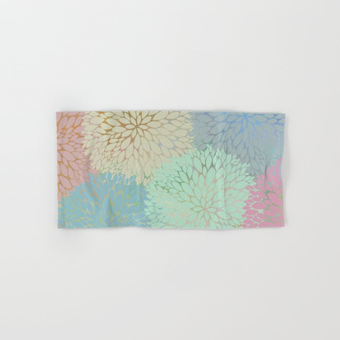 Abstract Floral Petals Hand & Bath Towel