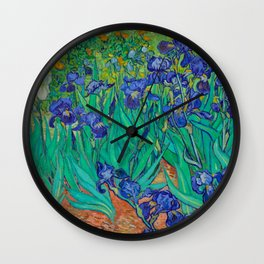 IRISES - VAN GOGH Wall Clock