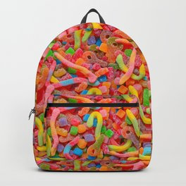 Party Mix Neon Sour Gummies Real Candy Pattern Backpack
