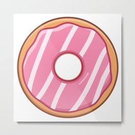 Heavenly Strawberry Doughnut / Donut Metal Print