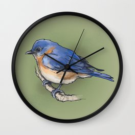 bluebird. Wall Clock