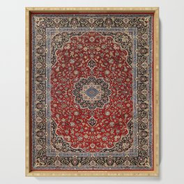 N63 - Red Heritage Oriental Traditional Moroccan Style Artwork Serving Tray