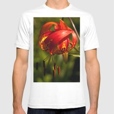 Firery Lily MEDIUM White Mens Fitted Tee