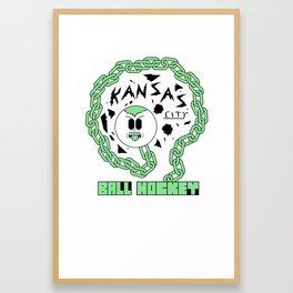Kansas City Ball Hockey Wildin' Owt [Small Graphic] by John F. Malta Framed Art Print
