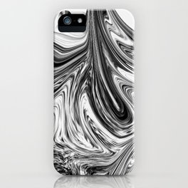 Modern contemporary Black and White Abstract iPhone Case
