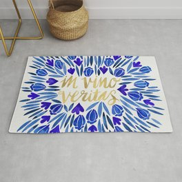 In Wine, There is Truth – Navy & Gold Rug