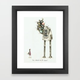 """""""you asked me for space"""" (text version) Framed Art Print"""