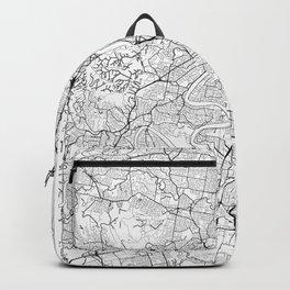 Brisbane Map White Backpack