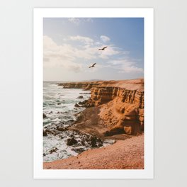 Chilean Coast Art Print