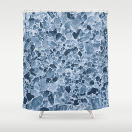 Pebbles Pattern in Blues Shower Curtain