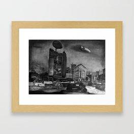 AIRSHIP STATION Framed Art Print