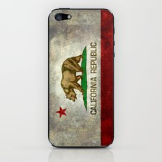 California Republic state flag Vintage iPhone & iPod Skin