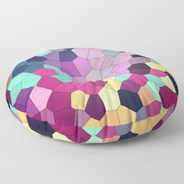 Abstract stained Floor Pillow