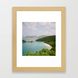Trunk Bay on Holga Framed Art Print
