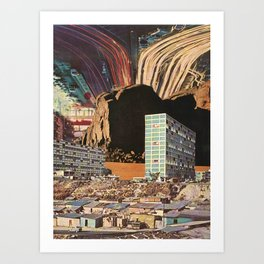 the city's been dead (since you've been gone) Art Print