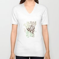 under the sea V-neck T-shirts featuring Under the Sea - Abstract by Paula Belle Flores