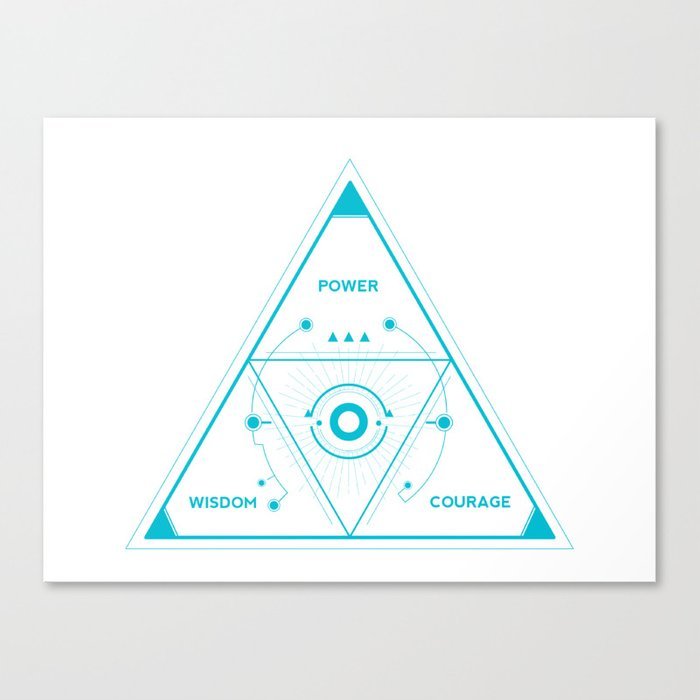 Tri-Force In You Canvas Print