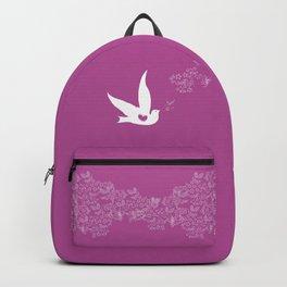 Wings of Love - Purple Backpack