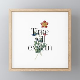 Time will explain. Jane Austen Collection Framed Mini Art Print