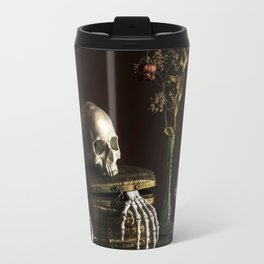 Vanitas, Memento Mori, Macabre Halloween Photo Travel Mug