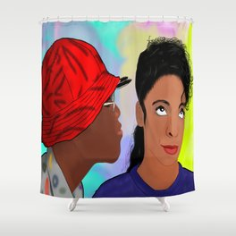 A Different World- Mr. Wayne and Ms. Gilbert Shower Curtain