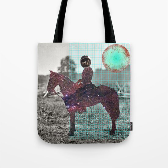 Space Lord Collage Tote Bag