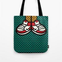 air jordan Tote Bags featuring AIR JORDAN 1 by originalitypieces
