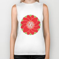 flower pattern Biker Tanks featuring Flower Pattern by smoothimages