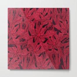 T.F TRAN RED PYTHON LILY GYMEA Metal Print