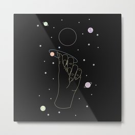Rebirth - Moon Phase Illustration Metal Print
