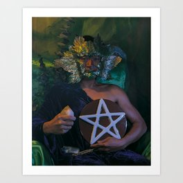 The Man of Pentacles Art Print