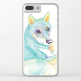 Dexter (The Shiba Inu) Clear iPhone Case