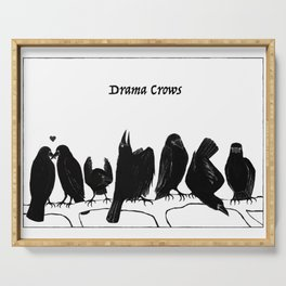 Drama Crows Serving Tray