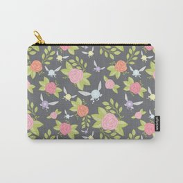 Garden of Fairies Pattern in Grey Carry-All Pouch