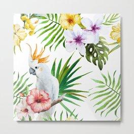 Tropical Bird Pattern 03 Metal Print