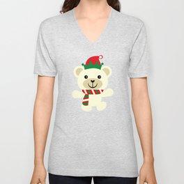 Christmas Penguin Friend Christmas Bear Unisex V-Neck