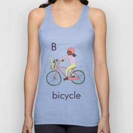 B is for Bicycle Unisex Tank Top