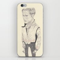 ryan gosling iPhone & iPod Skins featuring Ryan Gosling by withapencilinhand