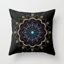 Contrast mandala Throw Pillow