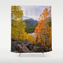 Colorado Fall Colors 2015 ~  Rocky Mountain National Park.  9/15 Shower Curtain