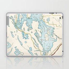 Vintage Muskoka Lakes Map Laptop & iPad Skin