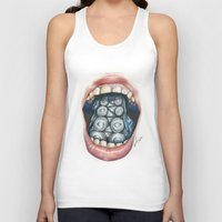 cthulu Tank Tops featuring Cthulhu Lips by lunaevayg