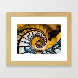 Man on a staircase in St Stephens Basilica Budapest Framed Art Print