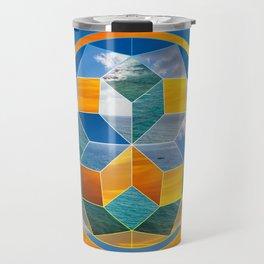Sacred geometry sunset Travel Mug