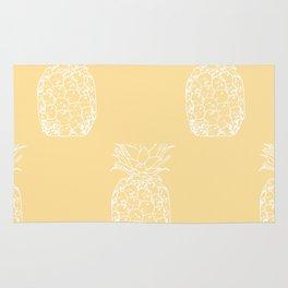 Petite Pineapple yellow Rug