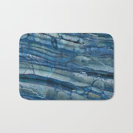 Ocean Depths Blue Marble Bath Mat