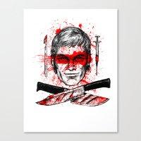 dexter Canvas Prints featuring Dexter by Jonah Makes Artstuff